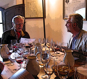 Franco Biondi-Santi and Don Carter in Montalcino