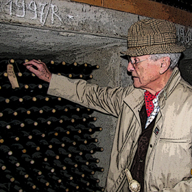 Franco Biondi-Santi in wine cellar 1