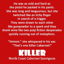 Killer Cabernet label