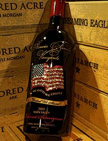 Sherwin Family Vineyards American Flag Bottle