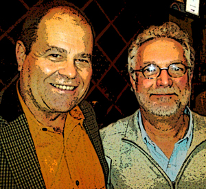 James Hall, owner & winemaker at Patz & Hall shares a snarky moment with Don at the Taste of Sonoma tasting in Manhattan.