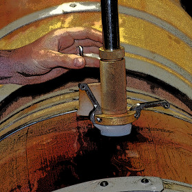 The Racking Cane Is Lowered Into The Barrel