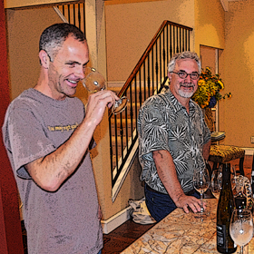 Eric Reichenbach of Robert Foley Vineyards leads Wine Snark & friends through a flight of Foley wines old & new.