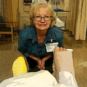 Caroline in hospital