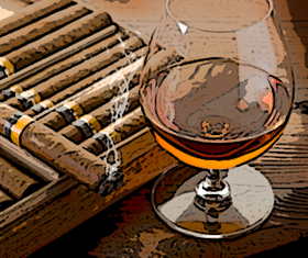 Cognac with Cohiba Cigars