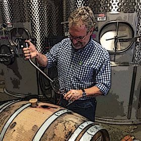 Don blending VDFW 2013 Cabernet from barrel