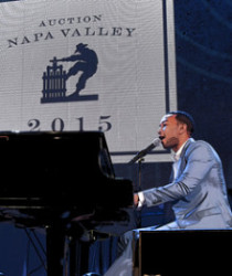 "John Legend performs ""All of Me"". Photo courtesy Napa Valley Vintners."