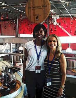 Victoria Coleman & Elizabeth Van Dyk at Barrel Tasting.
