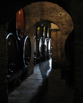 Angel in Montepulciano wine cellar copy