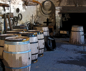 The Barrel Coopers Room at Chateau Margaux.