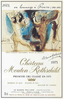 1973 Mouton-Rothschild label