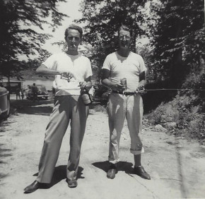My father Lee with his father George.