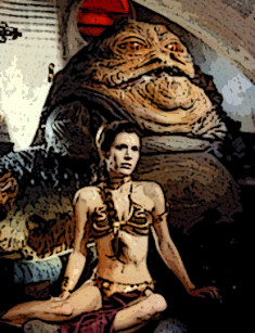 Princess Leia with Jabba poster