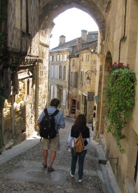 Saint Emilion cobblestone street