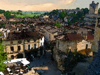 St Emilion rooftops plein air 3