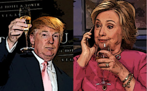 Donald & Hilary with wine copy