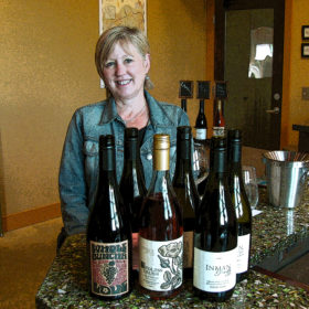 Kathleen Inman in her Russian River tasting room.